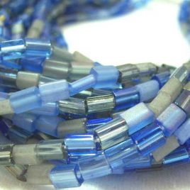 blue denim czech baby pillow beads 5mm x 3mm full hank $10.95 with free shipping