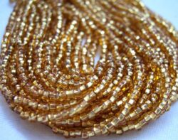 Gold seed bead hanks for sale online