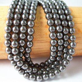 4mm Hematite Beads - 2 strands $5.75