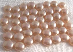 Vintage Faux Pearl Champagne Cabochons Flat Back Lot of 12 for $5.50 free shipping
