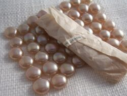 champagne pearls 12mm cabochons 12 for $5.50 with free shipping