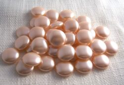 vintage pink cabochon faux pearls 22mm flat back 6 for $3.95 with free shipping