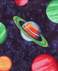 Planetary cotton print fabric for sale 2 celestial print lot