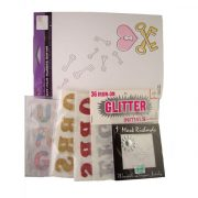 glitter initials iron on transfers lot for sale