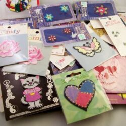 embroidered appliques for embellishing clothing or scrapbooking