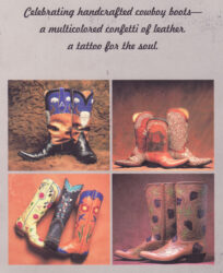 art of the boot book by tyler beard for sale $22.95 Cowboy boots 1999 edition