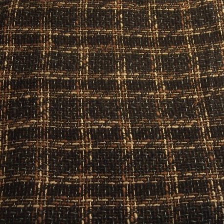 brown plaid boucle fabric for sale