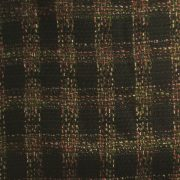 olive green plaid boucle fabric 1-1/2 yards $9 free shipping