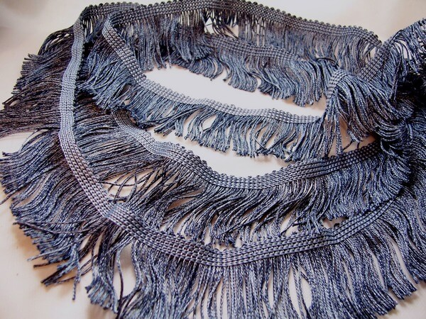chainette fringe in blue denim 2+ yards $5.95 free shipping