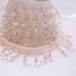 awesome crystal clear beaded fringe 2 yards $9.95 with free shipping