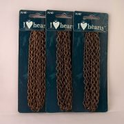 oxidized brass loop chain for sale lot of 3 packages