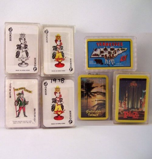 vintage lot of 6 decks of miniature playing cards for $11.95 free shipping