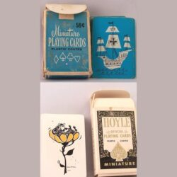 miiniature playing cards vintage lot of 6 decks for $11.95