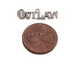 sterling silver outlaw pendant
