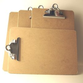 mini clipboards set of 4 for sale online $8.95 with free shipping.