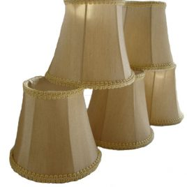 champagne golden beige mini lamp shades for candelabras and chanderliers $25 with free shipping