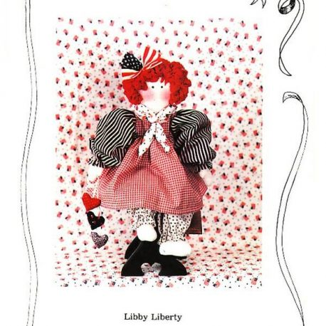 libby liberty cloth doll pattern for sale online $4.95 with free shipping