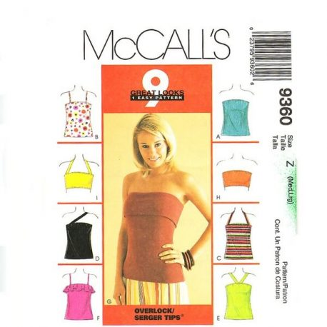 McCalls 9360 misses top pattern $4.95 free shipping uncut and factory folded
