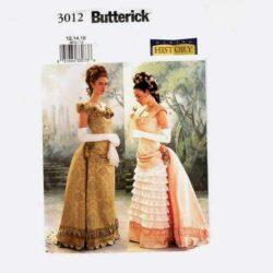 butterick 3012 victorian costume bustle dress