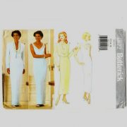 Butterick 4822 floor or tea length evening dress with short jacket in sizes 12-14-16.
