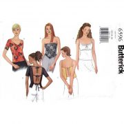 Butterick 6596 close fitting strapless or backless sewing pattern - $4.95 with free shipping