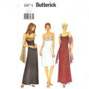 Butterick 6874 Bias Cut evening dress in sizes 14-16-18 - $4.95 with free shipping