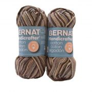 Bernat handicrafter cotton yarn - earth ombre- $6.95 with free shipping
