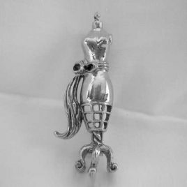 dressform pin in silvertone - $7.95 with free shipping