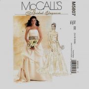 McCalls Bridal Elegance 5807 Bridal Gown Pattern Sizes 14-16-18-20