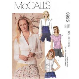 McCalls 3925 empire shirt sewing pattern - $4.95 with free shipping