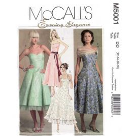 McCalls 5001 Evening Prom Dress pattern