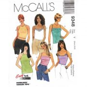 mccalls 9348 pattern for tank tops - backless halter or strappy camisole - $4.95 with free shipping