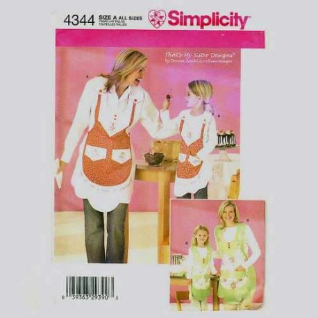 Simplicity 4344 Mother Daughter Apron Pattern- all sizes included.