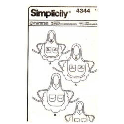 Simplicity 4344 Mother Daughter Apron Pattern- all sizes included - 4.95 with free shipping