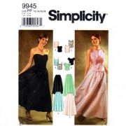 Simplicity 9945 2 piece evening dress in Sizes 12-14-16-18