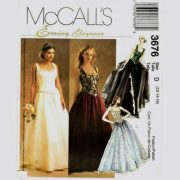 McCalls 3676 corset top and full skirt evening gown pattern in sizes 12-14-16.