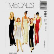 McCalls 8684 evening dress pattern in sizes 10-12-14.