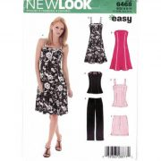 New Look 6468 princess style dress, top and pants pattern in sizes 6-16.