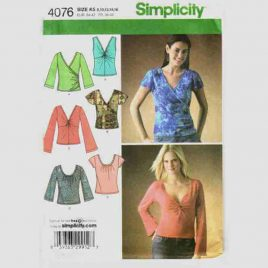 McCalls 4076 Wrap Top Pattern in sizes 8-10-12-14-16.