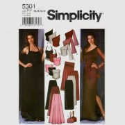 Simplicity 5301 2 piece evening dress in Sizes 12-14-16-18