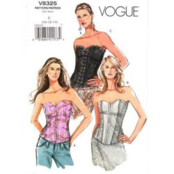Vogue 8325 Corset top pattern in sizes 10-12-14.