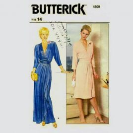 Butterick 4800 Vintage Wrap Dress Sewing Pattern Size 14
