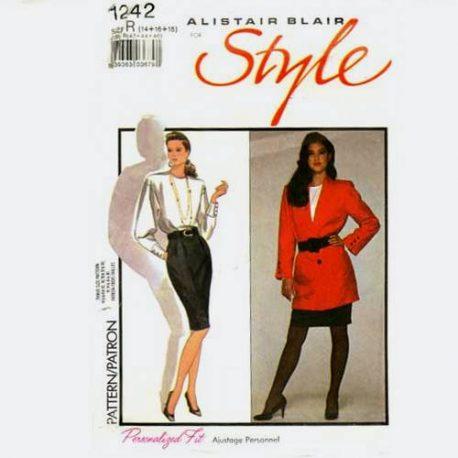 style 1242 Jacket blouse skirt pattern