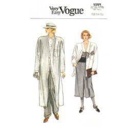 Vogue 9201 Duster Coat Pattern Sizes 12-14-16