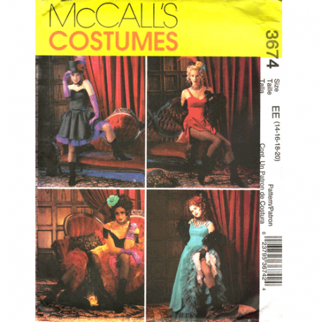McCalls 3674 Can Can costume pattern