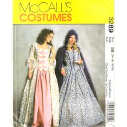 McCalls 3289 Colonial dress costume sewing pattern