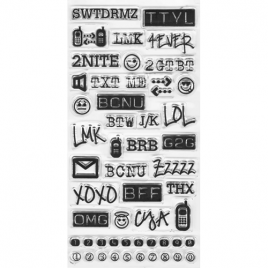 abbreviations - acronyms texting - chat clear acrylic stamps