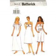 butterick 3612 camisole nightgown sewing pattern