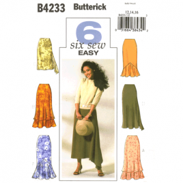 butterick 4233 flirty skirt sewing pattern