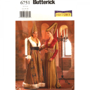 butterick 6751 medieval costume sewing pattern